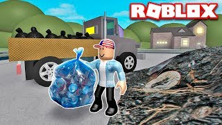 Work AS SCAVENGERS in garbage TRUCK SIMULATOR in ROBLOKS-Roblox Garbage Truck Simulator