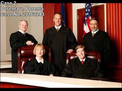 Utah Supreme Court Live Stream - April 19, 2017 oral argument in Porenta v. Porenta - 20160243