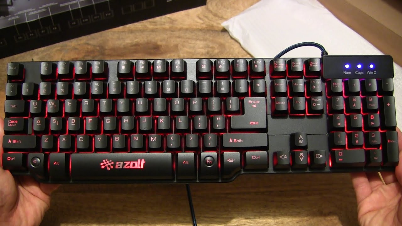 b5d7a791105 Azolt gReformer Half Mechanical Gaming Keyboard - YouTube