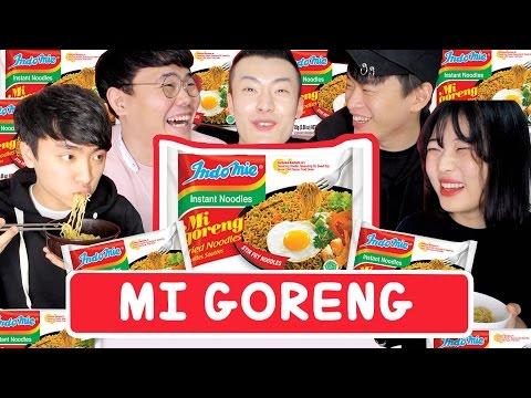 Cover Lagu [SUB] REAKSI ORANG KOREA MAKAN MI GORENG !! HITSLAGU