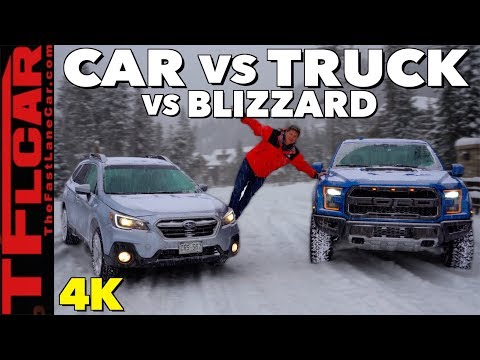 2019 Ford Raptor vs Subaru Outback: What's The Best Blizzard Fighter?