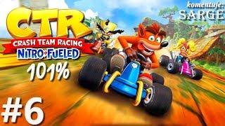 Zagrajmy w Crash Team Racing: Nitro-Fueled PL (101%) odc. 6 - Glacier Park
