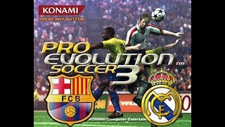 pes 2003 el clasico gameplay (AI vs AI)