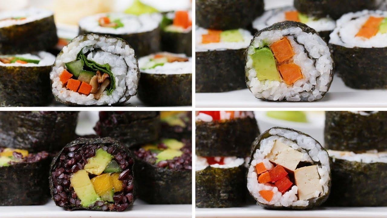 Veggie Sushi 4 Ways