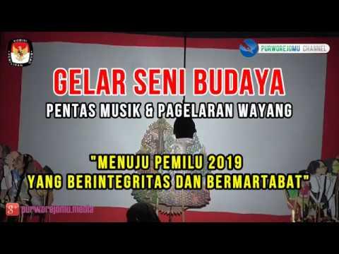 Pemilu 2019 Berintegritas&Bermartabat - Wayang Kampung Sebelah @Gelar Seni Budaya - KPU Purworejo