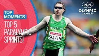 Top 5 Paralympic Sprints | Top Moments