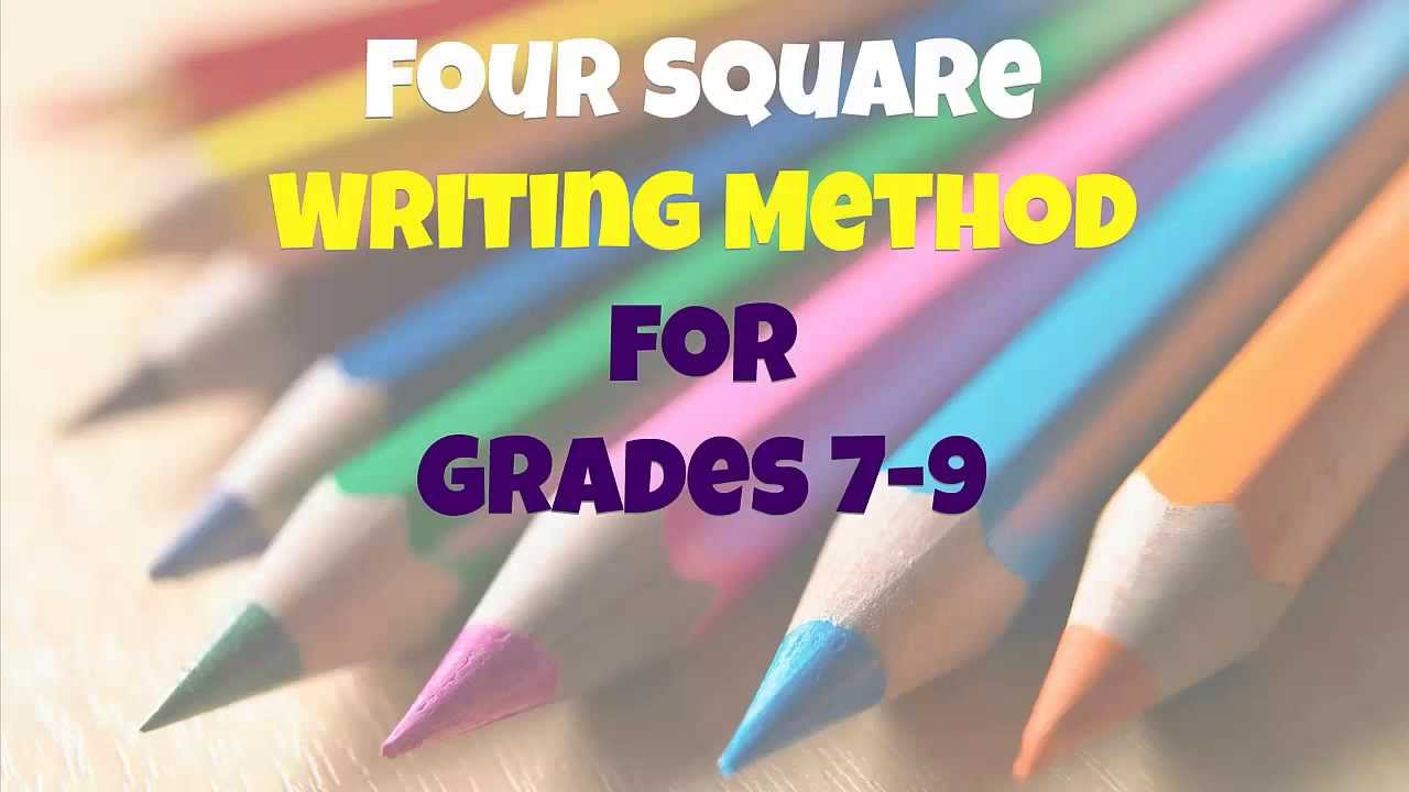 Worksheets Four Square Writing Worksheets four square writing method for grades 7 9 youtube