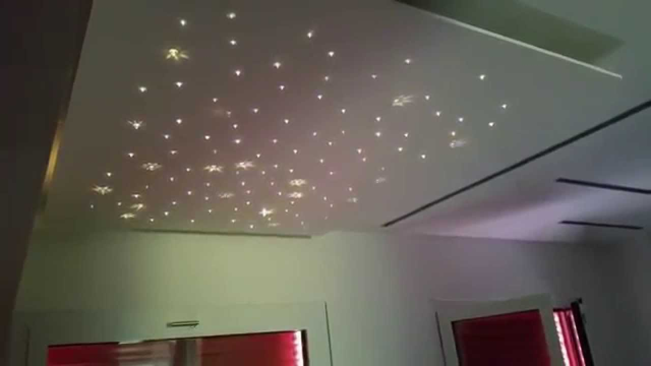 Fiber optic led rgb starry sky with swarovski elements cielo