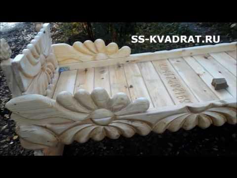 Кровати из вятской сосны с покрытием из пчелиного воска.