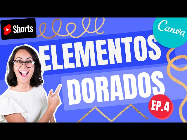GRATIS: Pinceladas DORADAS | ELEMENTOS ESCONDIDOS EN CANVA | Shorts Diana Muñoz
