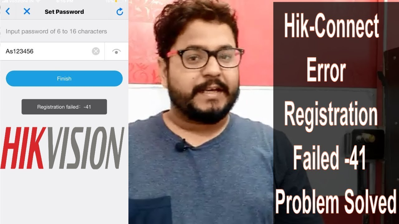How to Hikvision DVR Remote View Problem Solved Error Registration Failed  -41!