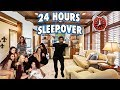 24 HOUR OVERNIGHT CHALLENGE AT A GIRL SLEEPOVER! | I HAD A GIRLS ONLY SLEEPOVER & THIS HAPPENED