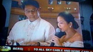MAR ROXAS - KORINA SANCHEZ Nuptials (Wedding News By ABSCBN - 5 =)