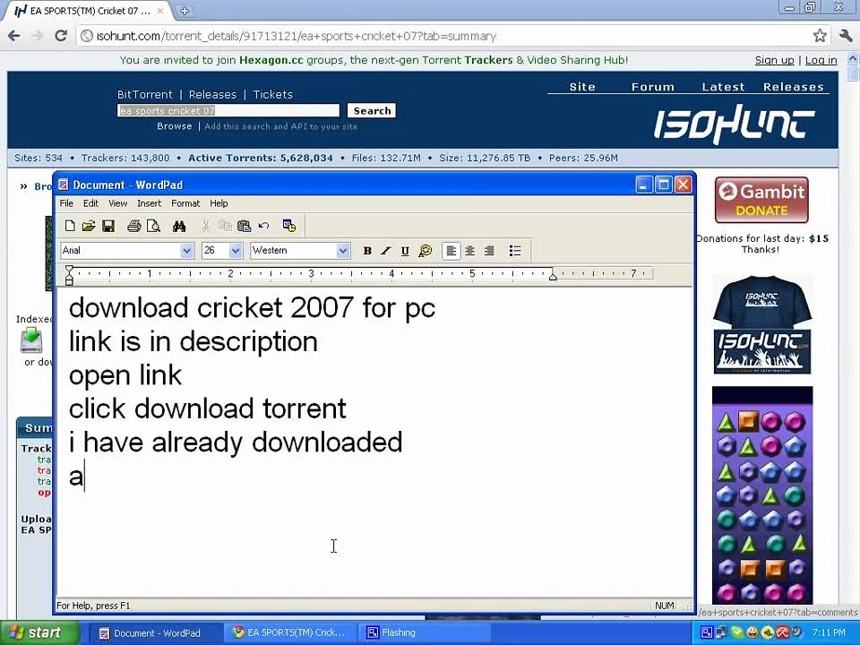 Download Cricket 07 Pc Torrent