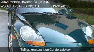2002 Porsche Boxster Spyder - for sale in EL CAJON , CA 9202