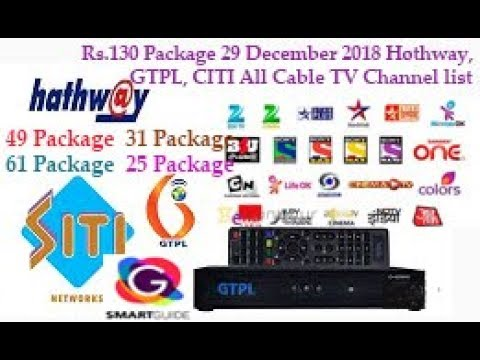 Trai New Cable Tv Rules Rs130 Package 29 December 2018 Hothwaygtpl