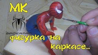 Мастер класс человека на каркасе из мастики. Человек паук, как пример. Готовить вкусно, просто.