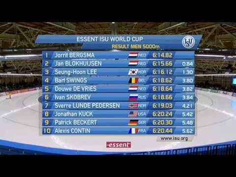 Speed Skating 4th World Cup Berlin 2013-2014 5000m men
