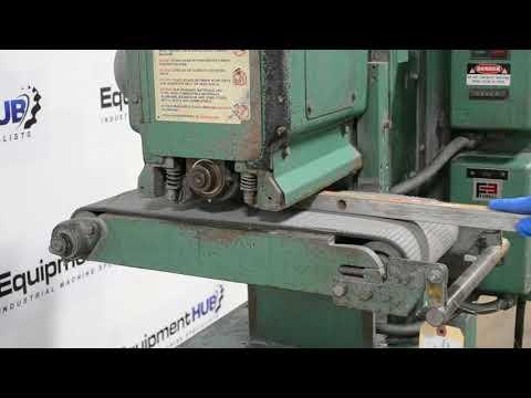 "Timesavers 948 9"" Mini-Belt Dry Metal Open End Wide Belt Sander / Finishing Deburring Machine"