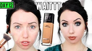 connectYoutube - MAYBELLINE FIT ME DEWY & SMOOTH FOUNDATION [First Impression Review & Demo] 15 DAYS OF FOUNDATION