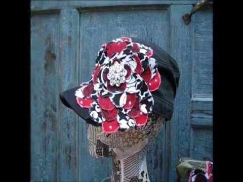 OU Boomer Sooner Frayed Flower |Black or Camo Distressed Cadet Hat