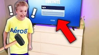 kid FREAKS OUT after mom deletes fortnite account.. B G M STAKE