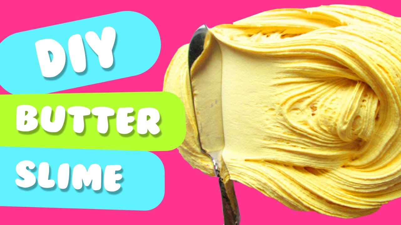 How to make butter slime without borax clay and cornstarch