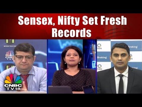 Sensex, Nifty Set Fresh Records || Market Today Talk Back || CNBC TV18