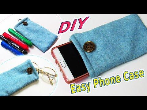 diy-soft-phone-case-out-of-old-denim---how-to-sew-pencil-case,-glasses-case---tutorial-for-beginners