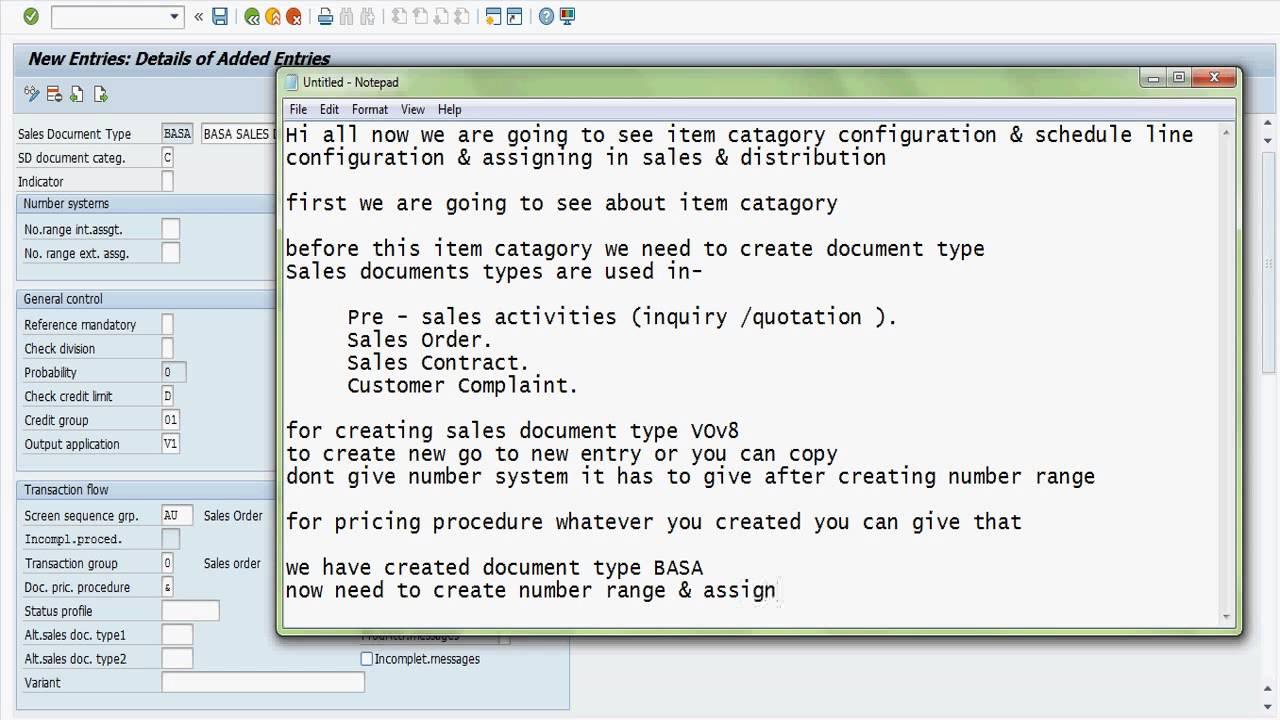 Sap sd sales document type item catagory schedule line category sap sd sales document type item catagory schedule line category configuration youtube malvernweather Gallery