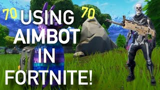 I'm using aimbot to win a game of fortnite