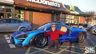 MCDONALD'S DRIVE THRU with My McLaren Senna!