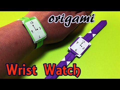 DIY Origami Wrist Watch For Kids 2019 | How To Make Beautiful Watch With Paper