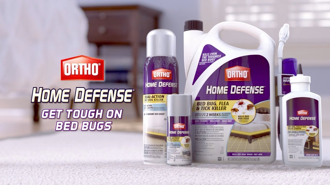 How To Get Tough On Bed Bugs With The Ortho Home Defense Line Of Bed Bug Killers Youtube