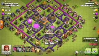 TOP 5- BEST TH8 Attack Strategy for Three Star in Clan War (after March 2016 update)
