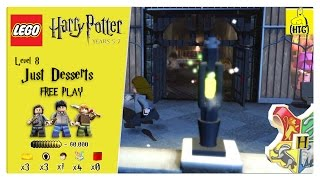 Lego Harry Potter Years 5-7: Lvl 8 / Just Desserts FREE PLAY (All Collectibles) - HTG