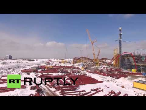 Russia: Drone footage captures epic scale of under-construction Samara Arena