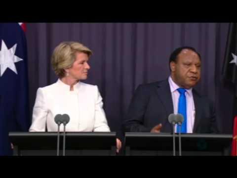 Julie Bishop & PNG's Rimbink Pato: 'Nothing illegal about asylum seeker detention'