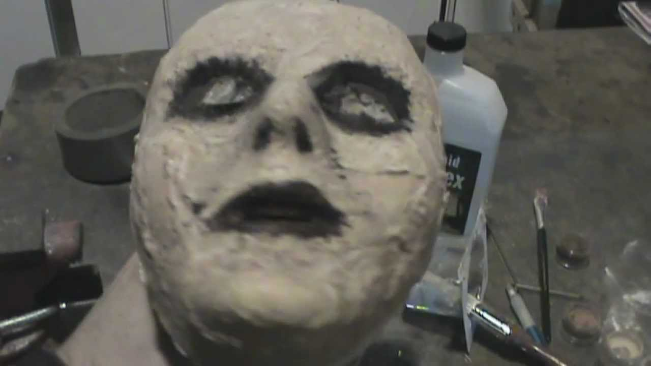Cheap diy zombie mask tutorial youtube for Zombie build