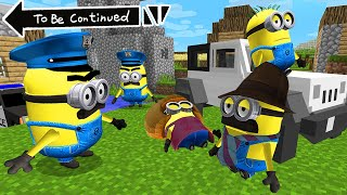 WHAT HAPPENED TO MINIONS FAMILY INVESTIGATION in MINECRAFT  Scary Minion vs Minions - Gameplay