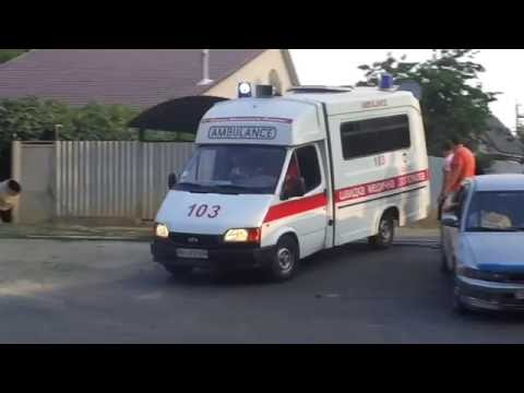 *RARE* Ford Transit ambulance responding with beacons