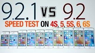 iOS 9.2.1 vs iOS 9.2 Speed Test on iPhone 6S, 6, 5S, 5 & 4S