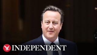 David Cameron criticises Johnson plan to break Brexit agreement