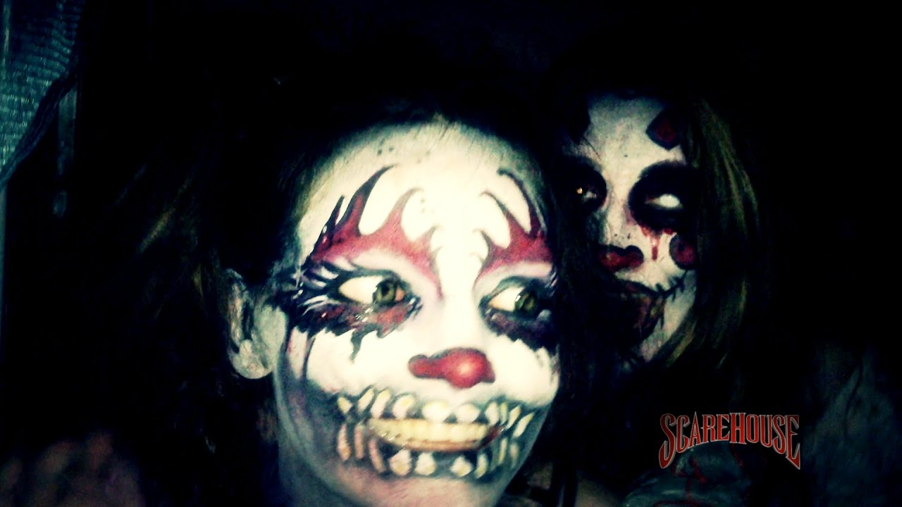 scarehouse clown girls laugh at you youtube