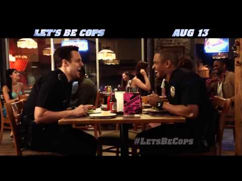 Let's Be Cops TV SPOT   Pretending 2014   Buddy Cop Action Comedy HD 1