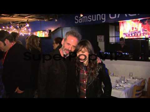 Josh Pais, Ellen Page at Celebrities Visit The Samsung Ga...