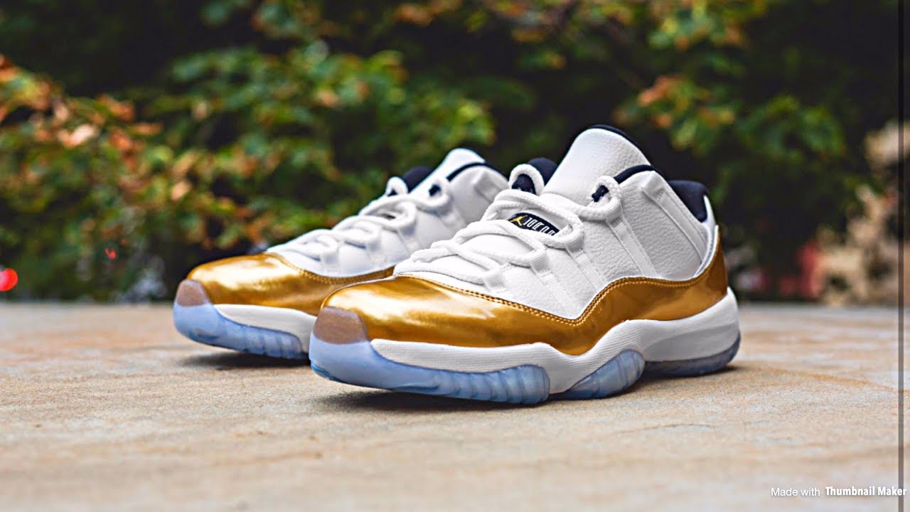 4bafbc6b52b 2016 Air Jordan 11 Retro Low Metallic Gold