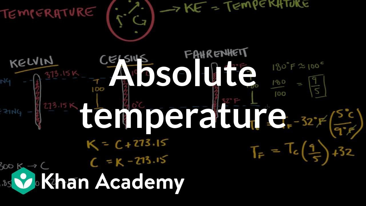 Absolute temperature and the kelvin scale (video) | Khan Academy