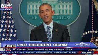 DOCTOR NEEDED: Reporter Gets Sick at President Obama's Year-End News Conference