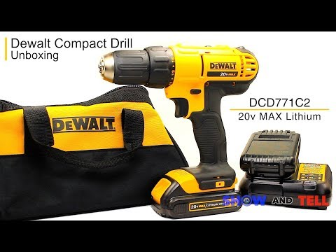 Dewalt | (DCD771C2) 20V MAX Cordless Lithium Ion Compact Drill/Driver Kit | Unboxing